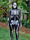 <p>Kim Kardashian out and about in a Halloween skeleton costume, October 2014.</p>