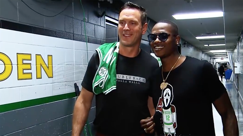 Drew Bledsoe and Terry Rozier together at last