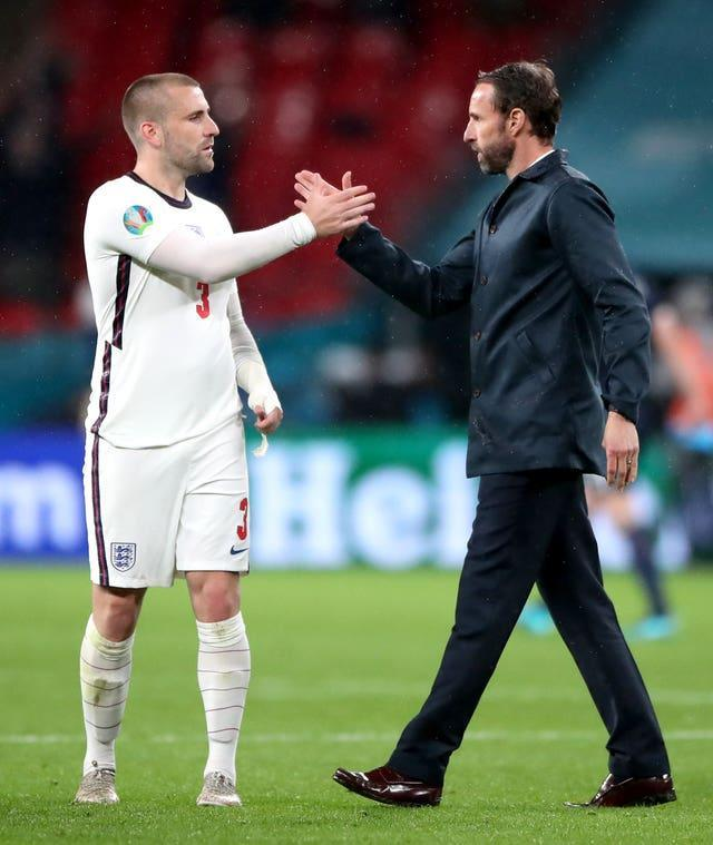 Luke Shaw is grateful for the ongoing support of England boss Gareth Southgate
