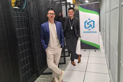 ShareMine's Founder Jimmy and Co-founder Bitcoin Man at one of the Sharemine's IDC center.