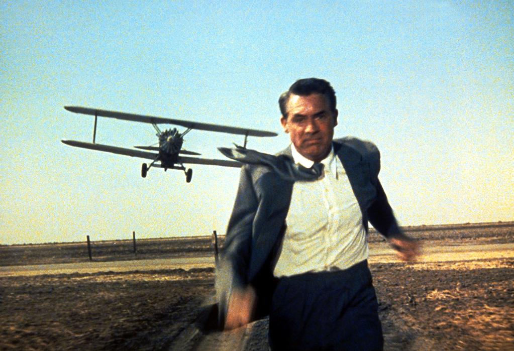 """<a href=""""http://movies.yahoo.com/movie/1800101755/info"""">NORTH BY NORTHWEST (1959)</a>   """"Only Hitchcock could turn a crop duster into an instrument of terror. Cary Grant's expression as he flees from the infernal machine, running for his life, made cinematic history."""""""