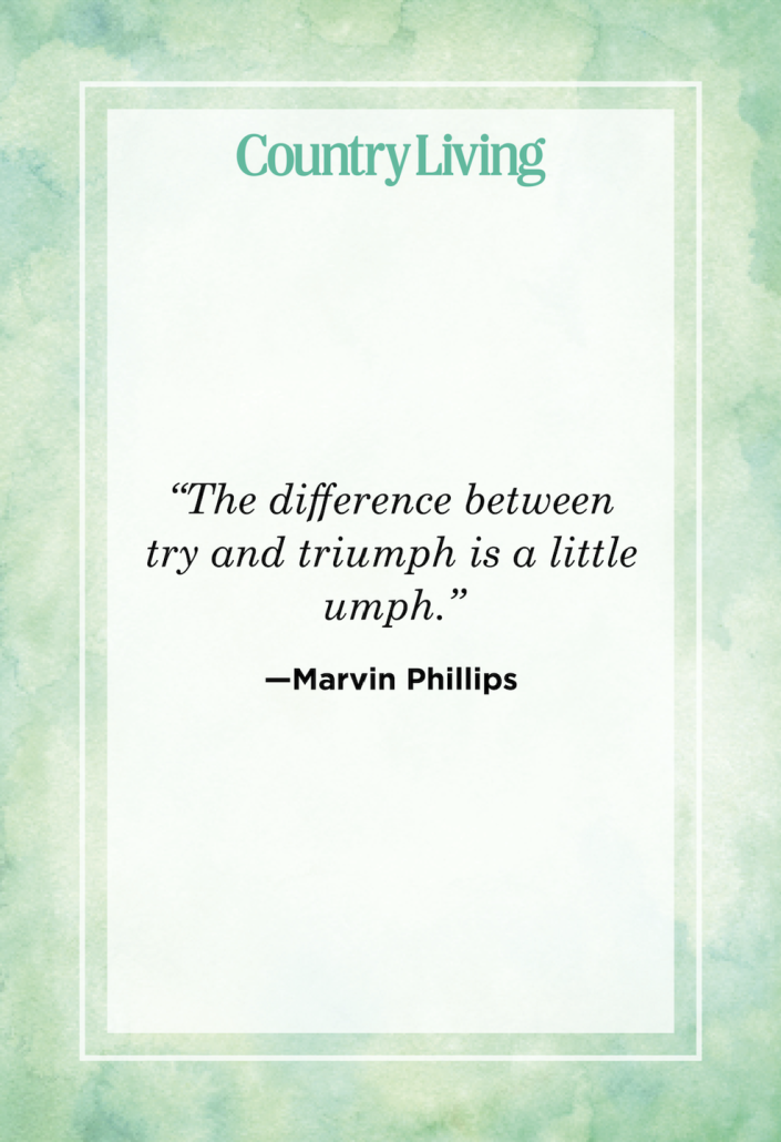 """<p>""""The difference between try and triumph is a little umph.""""</p>"""