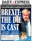 Brexit-supporting newspaper the Daily Express said that 'the die is cast' on a Commons shutdown and highlighted how Remainers have been left 'shocked'. (Twitter)