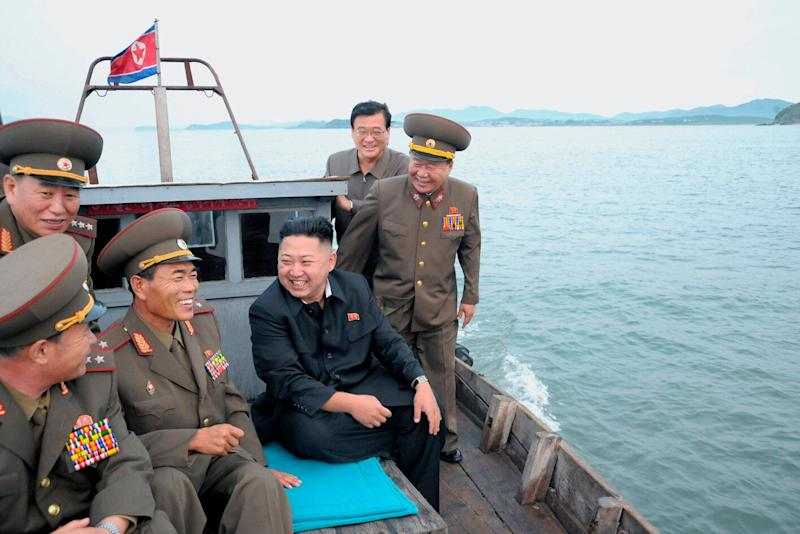 North Korean leader Kim Jong-Un (C) sits in a wooden boat with other soldiers as he visits military units on islands in the most southwest of Pyongyang in this picture released by the North's official KCNA news agency in Pyongyang August 19, 2012. KCNA did not state precisely when the picture was taken. REUTERS/KCNA (NORTH KOREA - Tags: POLITICS MILITARY) THIS IMAGE HAS BEEN SUPPLIED BY A THIRD PARTY. IT IS DISTRIBUTED, EXACTLY AS RECEIVED BY REUTERS, AS A SERVICE TO CLIENTS. NO THIRD PARTY SALES. NOT FOR USE BY REUTERS THIRD PARTY DISTRIBUTORS (Photo: KCNA KCNA / Reuters)