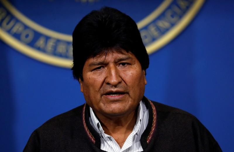 Bolivian President Morales says to resign after fierce election backlash