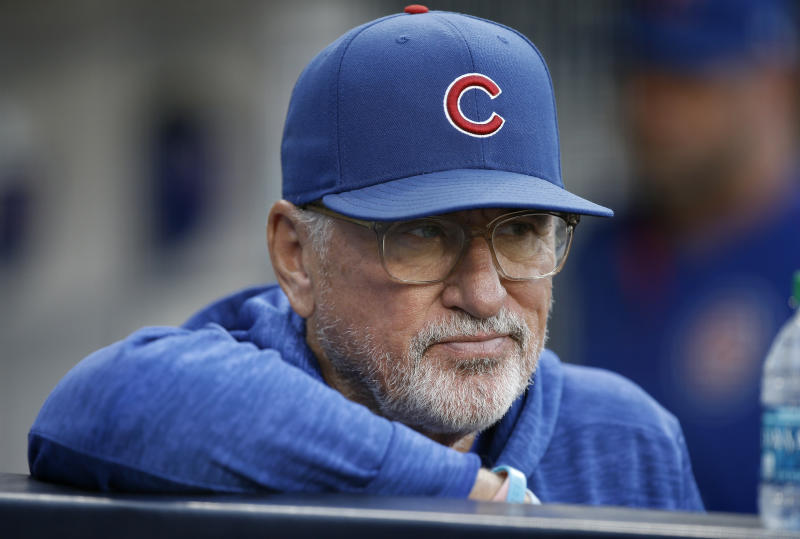 The Chicago Cubs have parted ways with manager Joe Maddon after five seasons. (AP Photo/Alex Gallardo)