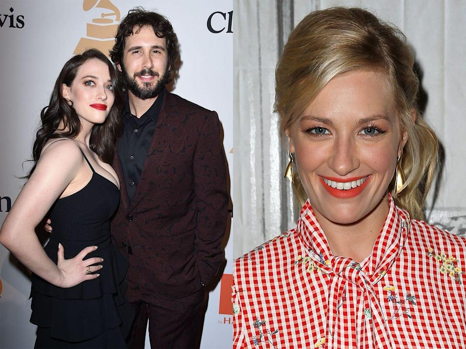 """<p>Kat's 2 Broke Girls co-star Beth Behrs had been friends with Josh for ages, and as soon as Kat was out of her relationship, she jumped in to play matchmaker.</p><p>""""I always wanted to find him the right girl. At the time, Kat was in a relationship, so I couldn't, <a href=""""http://www.people.com/article/josh-groban-kat-dennings-introduced-beth-behrs-2-broke-girls-costar"""" rel=""""nofollow noopener"""" target=""""_blank"""" data-ylk=""""slk:Beth told People"""" class=""""link rapid-noclick-resp"""">Beth told People</a>. """"Then they happened to both be single for once at the same time.""""</p>"""
