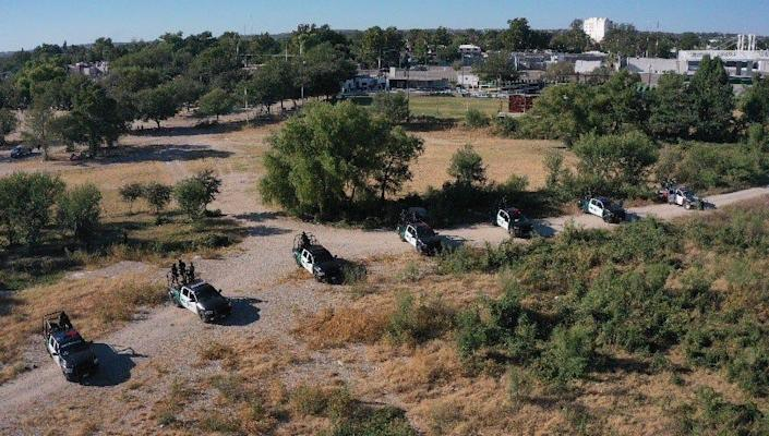 Mexican authorities began staging at a migrant camp on the south side of the Rio Grande in Ciudad Acuña at 6 a.m. Thursday, even as they allowed some migrants to continue to cross north to Del Rio, Texas.