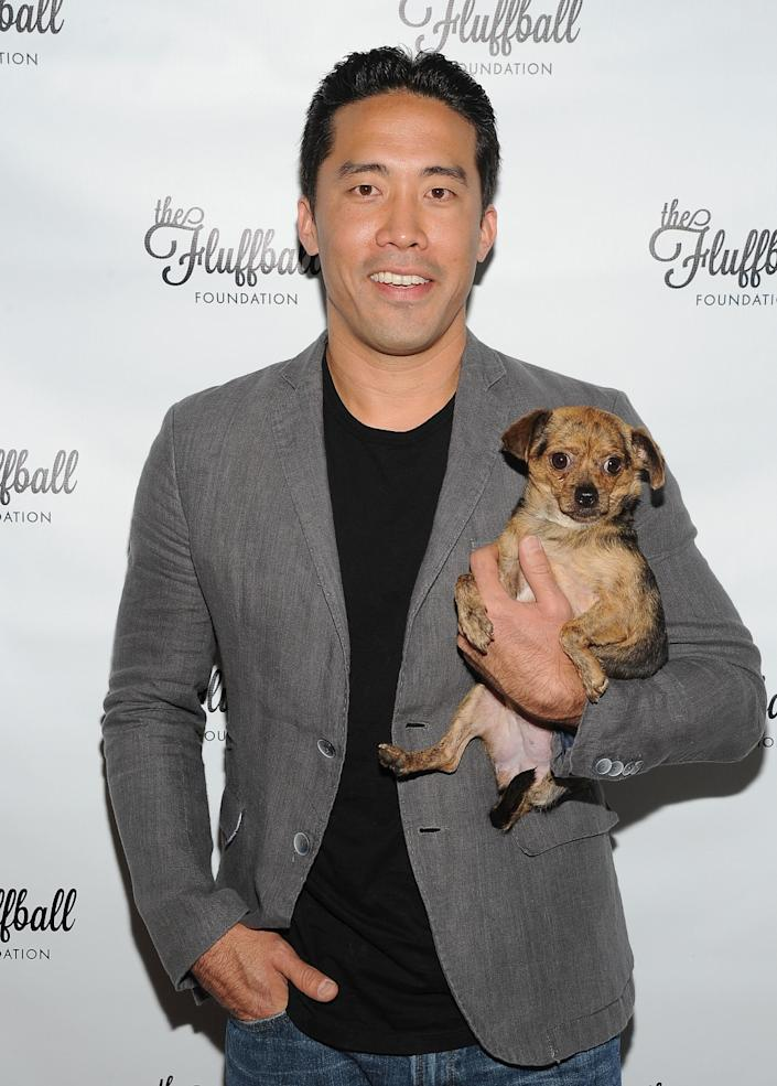 Founder of Animal Hope and Wellness Marc Ching attends The Fluffball 2015 at The Little Door in Los Angeles