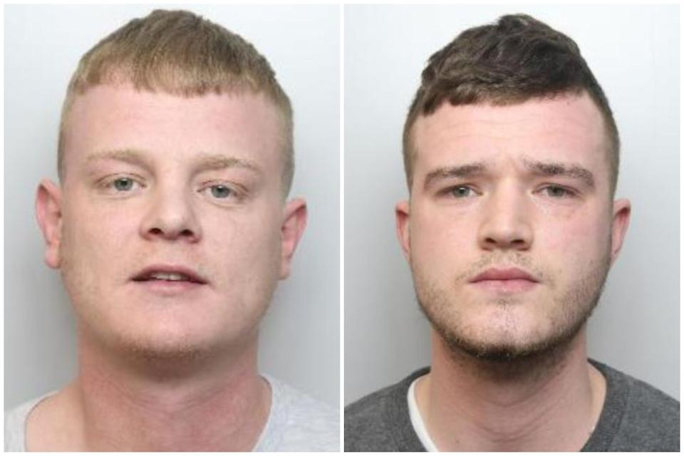 Stephen Dunford, left, and Brandon Bailey have been sentenced. (PA/South Yorkshire Police)