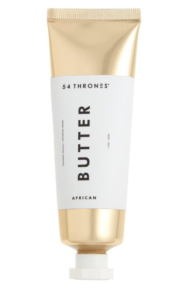 """<p><strong>54 Thrones Ugandan Vanilla + Ethiopian Honey Beauty Butter, $24, <a href=""""https://shop-links.co/1744457378181906112"""" rel=""""nofollow noopener"""" target=""""_blank"""" data-ylk=""""slk:available here"""" class=""""link rapid-noclick-resp"""">available here</a>: </strong>""""Too often, beauty products with 'butter' in the name would be more aptly described as creams or even margarines; not so with this ultra-dense, salve-like balm that melts as you massage it between your hands or into skin. I've been especially liking the faintly vanilla-scented moisturizer to coddle cracked cuticles, but it can also be used on dry patches on the face, hands, feet, elbows, lips, split ends — like actual butter, it's extremely versatile."""" —Stephanie Saltzman, Beauty Director</p>"""