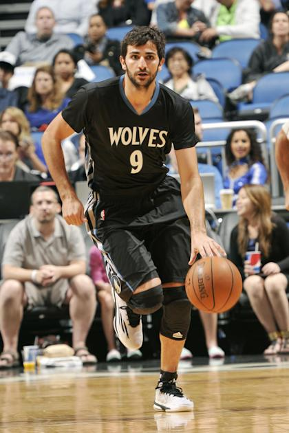 Ricky Rubio might not be in uniform any time soon. (Photo by Fernando Medina/NBAE via Getty Images)