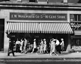 """<p>Founded in 1879 by Frank Winfield Woolworth, the company's first stores in Utica, New York, and Lancaster, Pennsylvania sold general merchandise and were called <a href=""""https://www.housebeautiful.com/lifestyle/g4051/five-and-dime-stores/"""" rel=""""nofollow noopener"""" target=""""_blank"""" data-ylk=""""slk:""""five-and-dime's"""" because everything sold for 10 cents or less"""" class=""""link rapid-noclick-resp"""">""""five-and-dime's"""" because everything sold for 10 cents or less</a>. The chain grew quickly, and by 1905, Woolworth invited rival retailer chains (two were owned by his relatives!) to merge with him. By 1929, there were 2,250 stores. The company purchased other chains over the years, including <a href=""""https://www.footlocker.com/"""" rel=""""nofollow noopener"""" target=""""_blank"""" data-ylk=""""slk:Footlocker"""" class=""""link rapid-noclick-resp"""">Footlocker</a>, though Woolworth variety stores closed in 1997.<strong><br></strong></p><p><strong>RELATED:</strong> <a href=""""https://www.goodhousekeeping.com/home/g4650/valuable-antiques/"""" rel=""""nofollow noopener"""" target=""""_blank"""" data-ylk=""""slk:10 Things You Should Never, Ever Pass Up at Antique Shops"""" class=""""link rapid-noclick-resp"""">10 Things You Should Never, Ever Pass Up at Antique Shops</a></p>"""