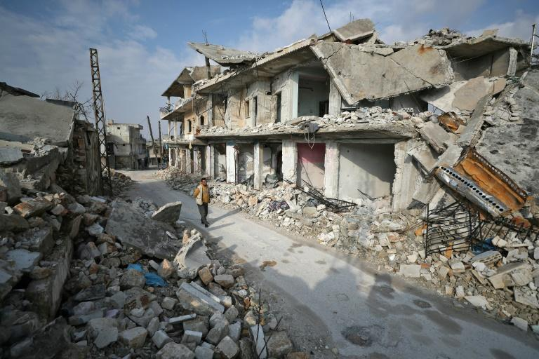 Syrian aid workers called urgently for a ceasefire and international help for nearly a million people fleeing the Syrian regime's onslaught in the country's northwestern Idlib province