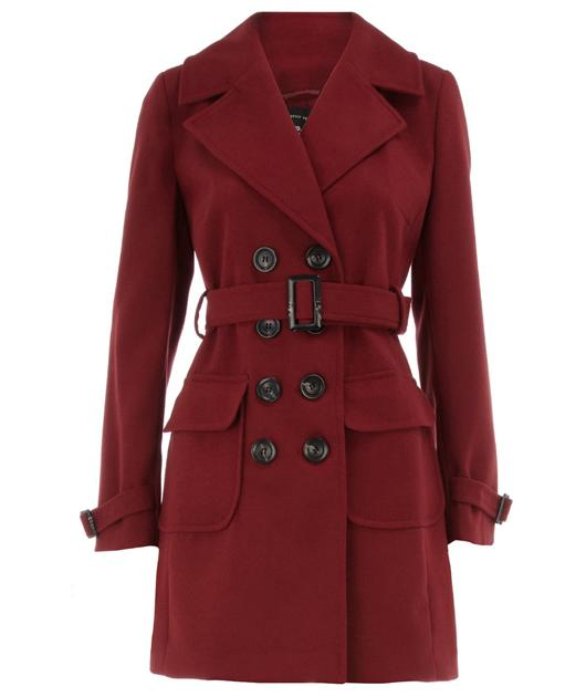 This jacket is an almost exact colour match to the one Kate wore, plus it's rocking the same belted look too – bonus!  £59, dorothyperkins.com