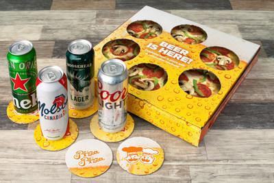 Beer Coaster Pizza Box (CNW Group/Pizza Pizza Limited)