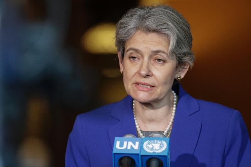 "Irina Bokova said, ""nowhere more than in Jerusalem do Jewish, Christian and Muslim heritage and traditions share space"""