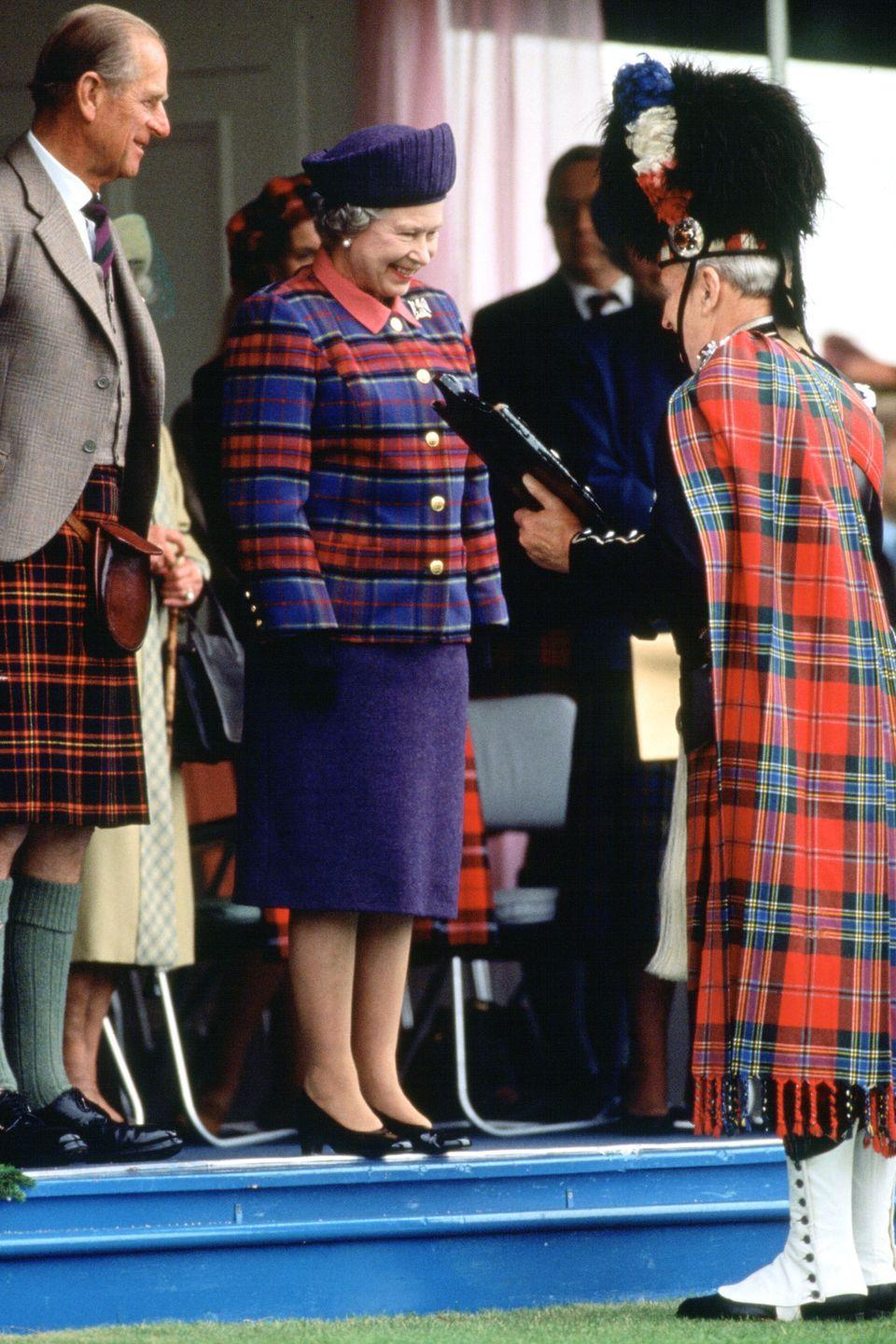 <p>She also isn't afraid to go plaid-to-plaid with her husband at official events.</p>