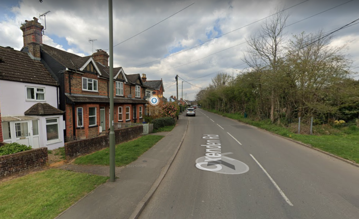 The crash happened in Oxenden Road, Tongham in Surrey in the early hours of 26 September. (Google Maps)