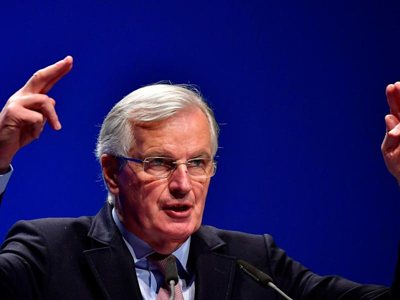 'They have to face the consequences of their own decision,' says Mr Barnier of the UK's trade negotiations: AFP/Getty