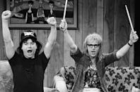 """<p>The SNL sketch and movie """"Wayne's World"""" brought this almost-immediately-overused declaration. </p>"""