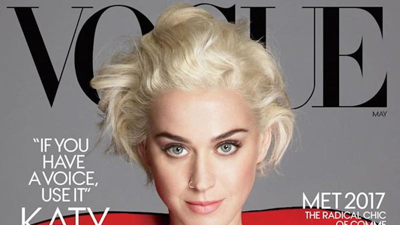 """Katy Perry als Lady in Red auf dem """"Vogue""""-Cover"""