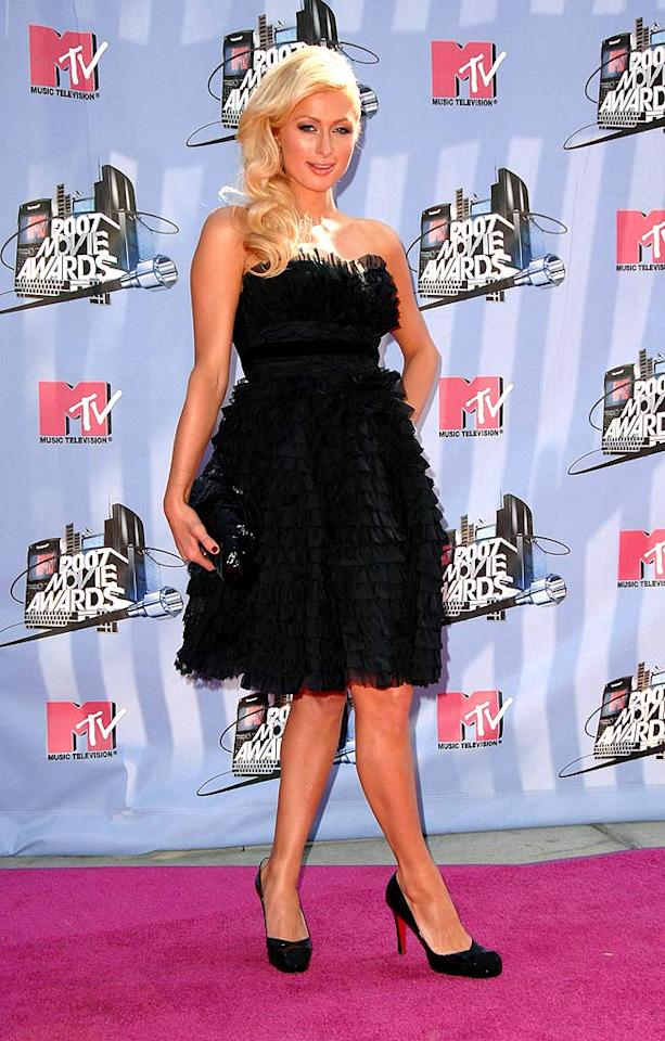 "Paris Hilton walks her last red carpet before her jail time. Steve Granitz/<a href=""http://www.wireimage.com"" target=""new"">WireImage.com</a> - June 3, 2007"