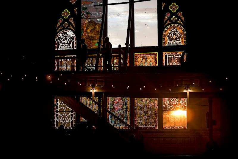 The stained glass windows of Clayborn Temple in Memphis.