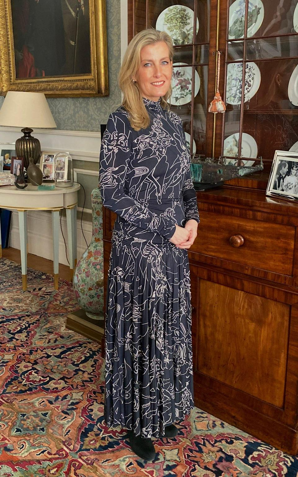 The Countess of Wessex wore Victoria Beckham for the event - Buckingham Palace