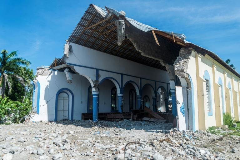 """""""It was a beautiful church with very beautiful architecture,"""" said Wilson Exantus Andre, the parish priest at the Immaculee Conception church in Les Anglais, in southwestern Haiti"""