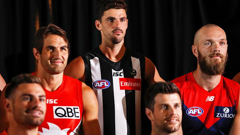 Scott Pendlebury, pictured here at the 2020 AFL Captains Day.