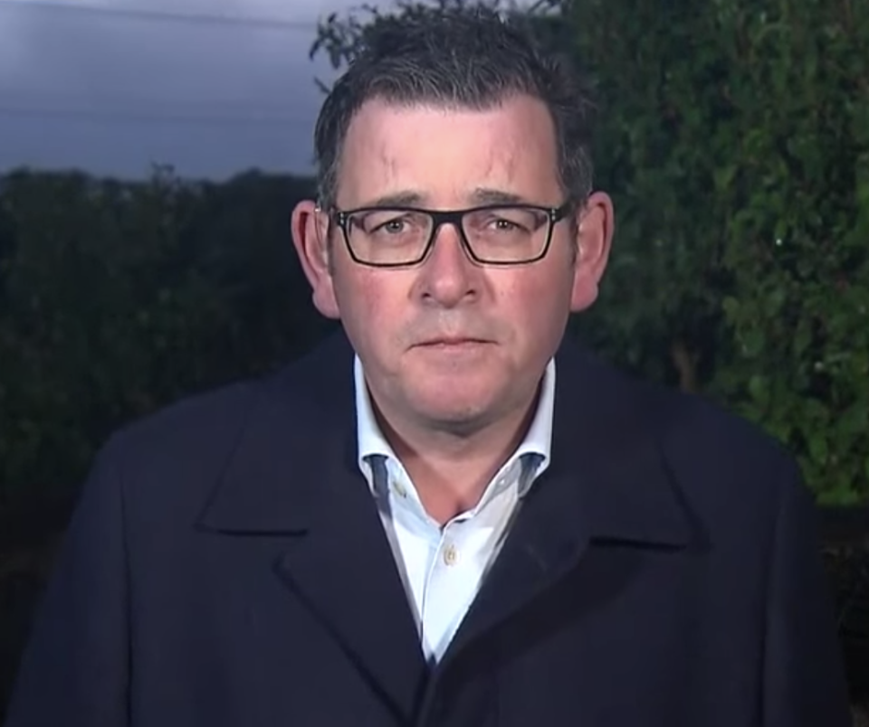 Photo of Daniel Andrews in an appearance on Nine's Today program on Wednesday.