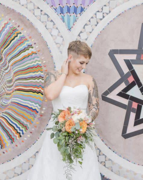 """""""We seriously have the most stunning brides. Congrats to Shelby and&nbsp;Kevin!"""" -- <i>Maura Casados&nbsp;</i>"""