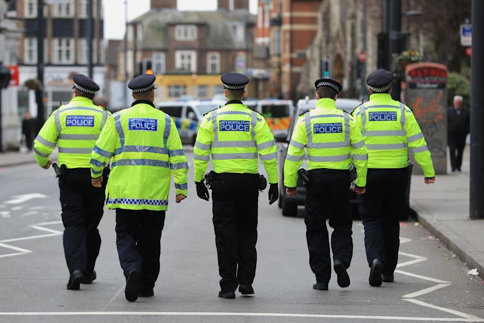 Police activity at the scene following the terror attack in Streatham High Road (Aaron Chown/PA) (PA Archive)