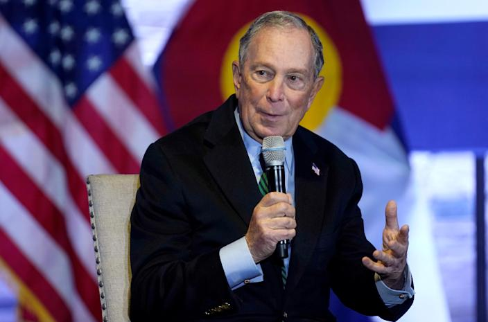 """Presidential candidate Michael Bloomberg said the general election result is a """"catastrophic warning"""" to democrats in the US (Picture: REUTERS/Rick Wilking)"""