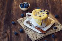 """<p>Baking a cake takes a lot of effort, but thankfully there are <a href=""""https://www.thedailymeal.com/cook/microwave-cake-recipes-you-can-make-10-minutes-or-less-0?referrer=yahoo&category=beauty_food&include_utm=1&utm_medium=referral&utm_source=yahoo&utm_campaign=feed"""" rel=""""nofollow noopener"""" target=""""_blank"""" data-ylk=""""slk:mug cake recipes"""" class=""""link rapid-noclick-resp"""">mug cake recipes</a>. The best part? This treat only takes about two minutes. You can easily swap the blueberries for raspberries, strawberries or any other summer berry.</p> <p><a href=""""https://www.thedailymeal.com/recipes/blueberry-mug-cake-recipe?referrer=yahoo&category=beauty_food&include_utm=1&utm_medium=referral&utm_source=yahoo&utm_campaign=feed"""" rel=""""nofollow noopener"""" target=""""_blank"""" data-ylk=""""slk:For the Blueberry Mug Cake recipe, click here."""" class=""""link rapid-noclick-resp"""">For the Blueberry Mug Cake recipe, click here.</a></p>"""