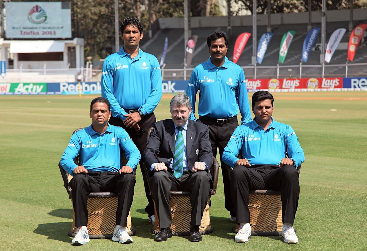 MUMBAI, INDIA - FEBRUARY 17: The officials team picture ahead of the final between Australia and West Indies of the Women's World Cup India 2013 played at the Cricket Club of India ground on February 17, 2013 in Mumbai, India. (Photo by Graham Crouch/ICC via Getty Images)