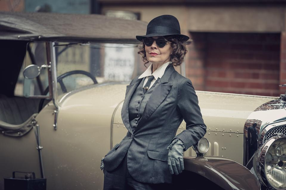 As matriarch Polly in Peaky BlindersBBC