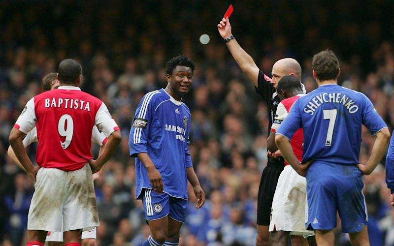 John Obi Mikel was given his marching orders - GETTY IMAGES