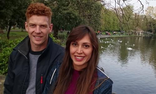 How we met: 'I'm a staunch Brexit critic – but it did lead to us falling in love'
