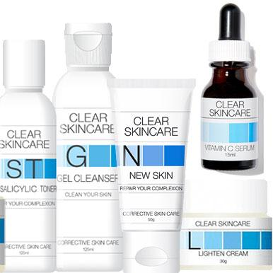 A few of the products I used in my new routine. Photo: Clear Skincare