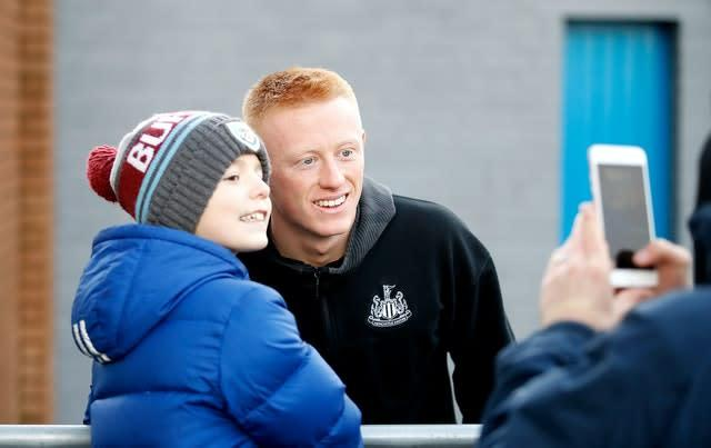 Matty Longstaff's contract remains a concern for Newcastle (Martin Rickett/PA)
