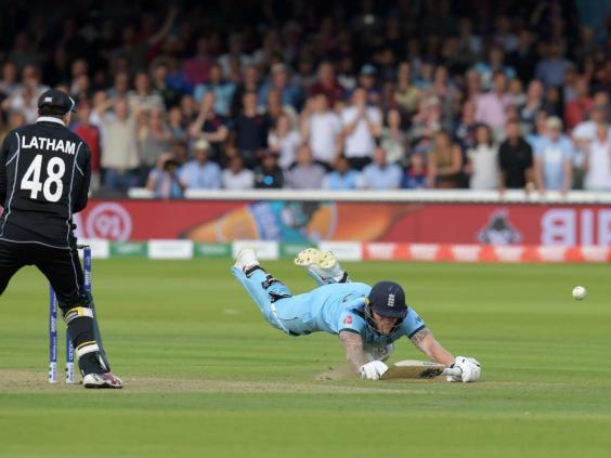 The luck involved in Ben Stokes deflecting the ball to the boundary, and England to World Cup glory, cannot be explained (AFP/Getty)