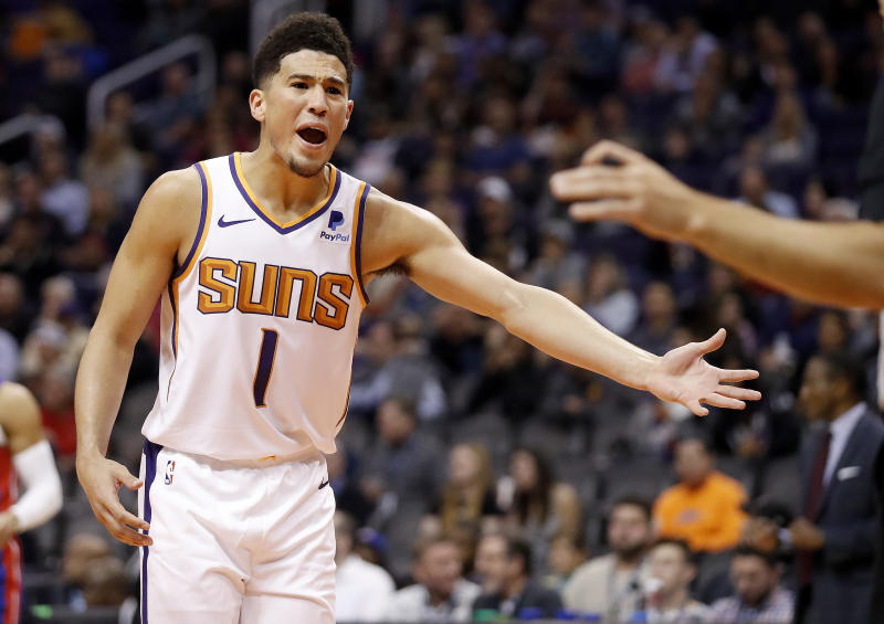 Devin Booker upset about being double teamed in pickup game