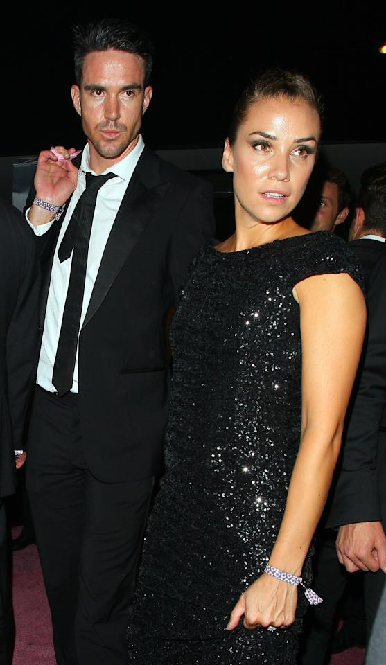 LONDON, UNITED KINGDOM - SEPTEMBER 21: Kevin Pietersen and Jessica Taylor attend the Boodles Boxing Ball on September 21, 2013 in London, England. (Photo by Mark Robert Milan/FilmMagic)