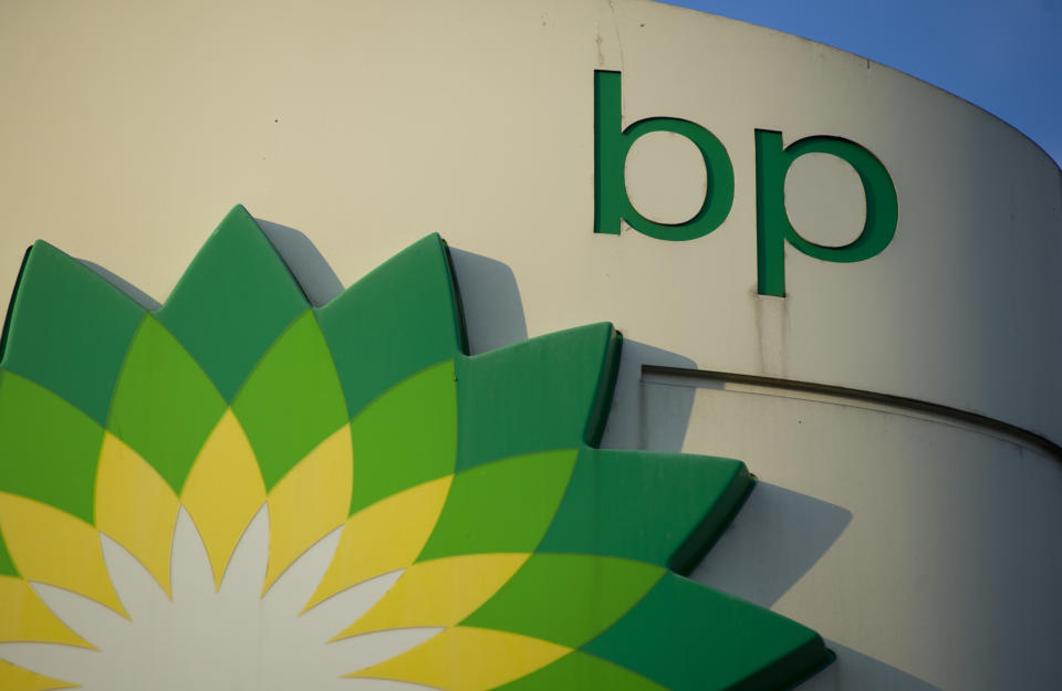 British gas and oil multinational company BP (British Petroleum) logo is seen on October 7, 2020 in Warsaw, Poland. (Photo by Aleksander Kalka/NurPhoto via Getty Images)