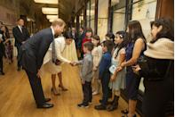 <p>Markle greeted young visitors of the Natural History museum. </p>
