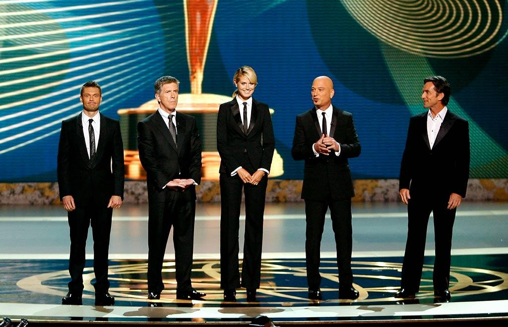 """Hosts Ryan Seacrest, Tom Bergeron, Heidi Klum, Howie Mandel, and Jeff Probst stumbled uncomfortably as they kicked off the ceremony. Later Jeremy Piven would tease the hosts saying, """"What if I just kept talking for 12 minutes? That was the opening."""""""