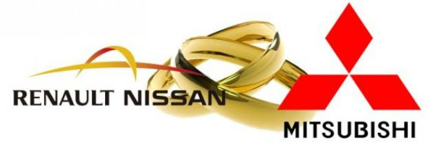Logo of the Nissan-Renault-Mitsubishi alliance