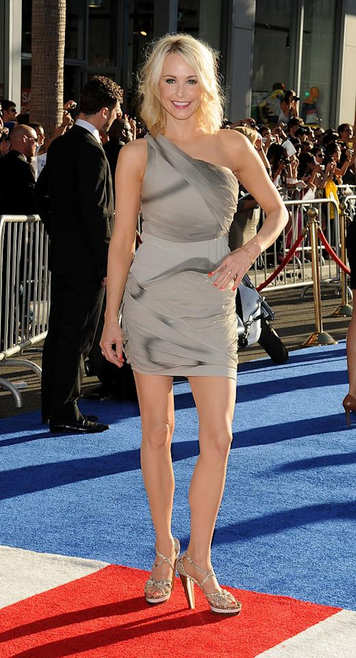 """""""Melrose Place"""" alum alert! Josie Bissett (aka Jane Andrews-Mancini) was also at the """"Captain America"""" premiere. Why? No clue. Nonetheless, she looked amazing in a ruched one-shouldered number and snakeskin platform sandals. Eat your heart out, Sydney! Mark Sullivan/<a href=""""http://www.wireimage.com"""" target=""""new"""">WireImage.com</a> - July 19, 2011"""